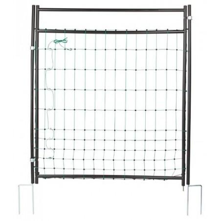 Porte portail pour filet de cloture électrifiée ou pas